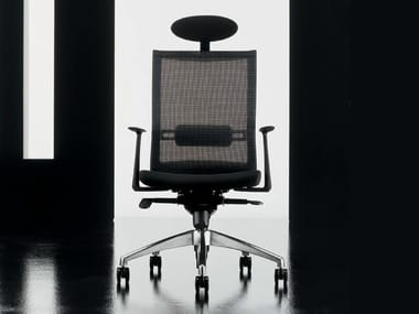Executive chair with 5-spoke base with armrests STAR | Executive chair