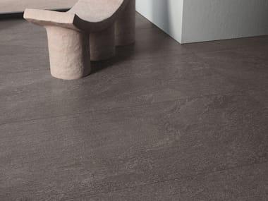 Pavimento/rivestimento in gres porcellanato effetto pietra effetto pietra per interni STAR ROAD GRAPHITE