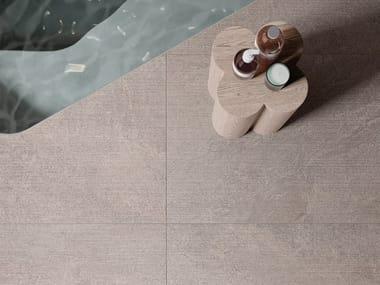 Pavimento/rivestimento in gres porcellanato effetto pietra effetto pietra per interni STAR ROAD SILVER