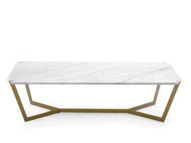 Low rectangular marble coffee table STAR | Rectangular coffee table
