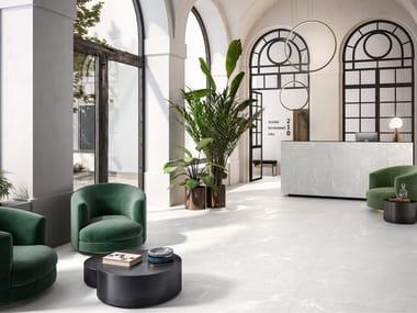 Pavimento/rivestimento in gres porcellanato effetto marmo effetto metallo STARDUST