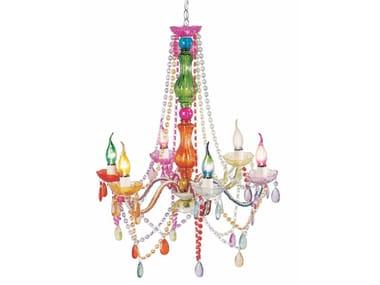 Lampadario in vetro acrilico in stile classico STARLIGHT RAINBOW