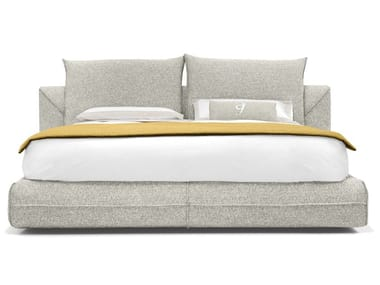 Fabric double bed with upholstered headboard STARMAN DREAM