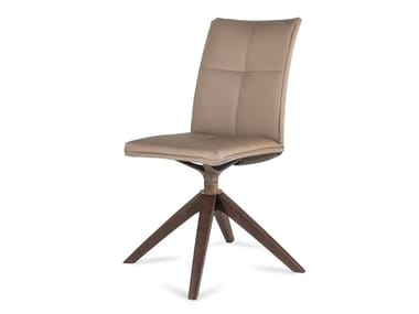 Swivel upholstered leather chair STARWOOD