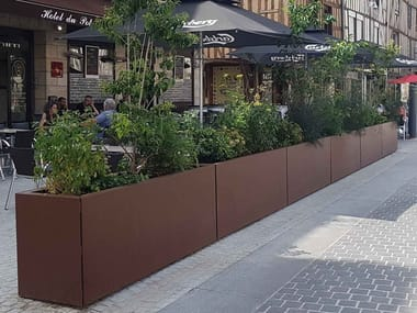 Removable Panels planters STEELAB SPA