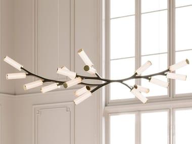 Lampada a sospensione a LED in ottone STEINWAY HAARA