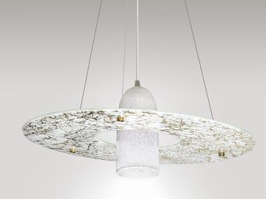 Lampada a sospensione a LED fatta a mano in vetro STELLA