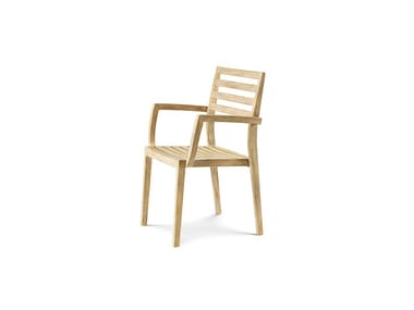 Teak chair with armrests STELLA