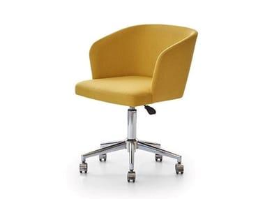 Chaise en tissu à 5 rayons à roulettes STELLA S