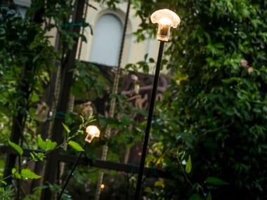 Lampada da terra per esterno a LED in vetro STELO