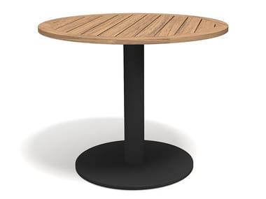 Runder Tisch aus Teakholz STEM 003