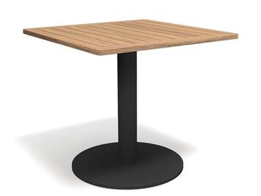 Quadratischer Tisch aus Teakholz STEM 001
