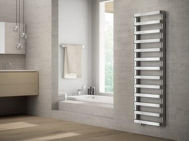 Wall-mounted chrome decorative radiator STEP B