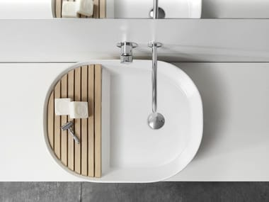 Countertop ceramic washbasin STEP