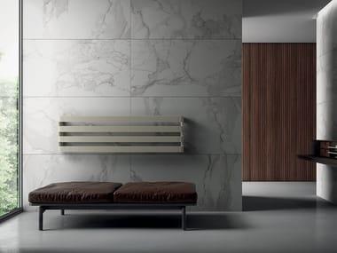 Wall-mounted chrome decorative radiator STEP H