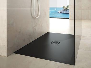 Piatto doccia filo pavimento rettangolare in ceramica STEP