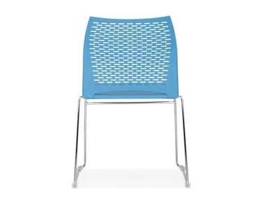 Sled base stackable chair STEP | Sled base chair
