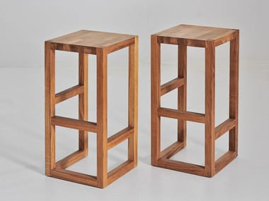 High solid wood stool STEP