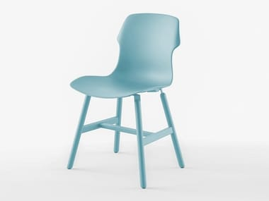 Polypropylene chair STEREO METAL