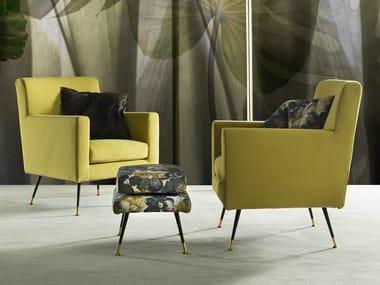 Fabric armchair with armrests STEVE