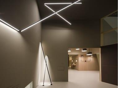 Profilo per illuminazione lineare in alluminio per moduli LED STICKS