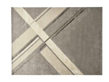 Handmade rectangular fabric rug STILEMA