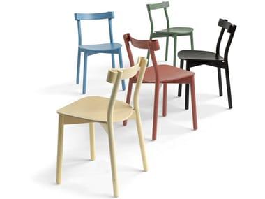 Wood veneer chair STILL LIFE