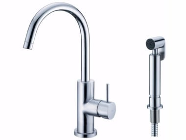Countertop stainless steel kitchen tap STILL ONE | Brushed-finish kitchen mixer tap