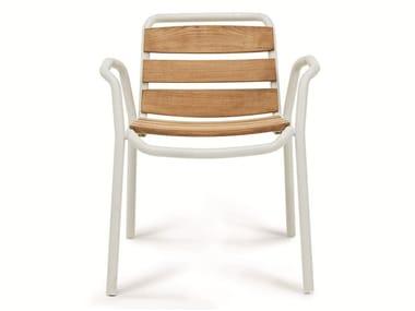 Stackable garden chair STITCH