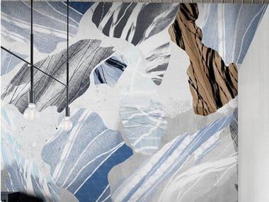 Papel de parede ecológico de tecido não tecido STONE