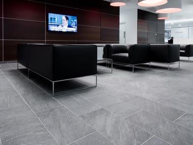 Pavimento/rivestimento in gres porcellanato effetto pietra STONELINE BLACK