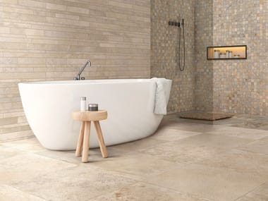 Indoor full-body porcelain stoneware wall/floor tiles with stone effect STONES DU MONDE | Indoor wall/floor tiles