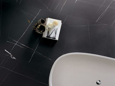 Porcelain stoneware flooring with marble effect STONES & MORE 2.0