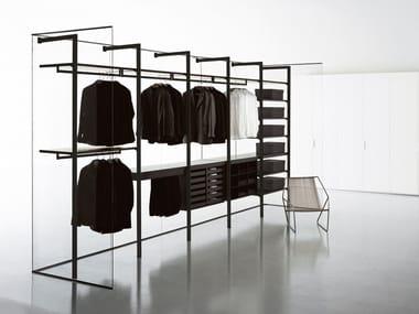Cabina armadio componibile in derivati del legno in stile moderno su misura STORAGE | Cabina armadio