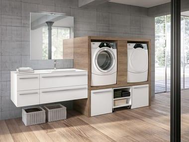 Mobile lavanderia con lavatoio per lavatrice STORE 409