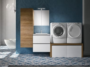 Laundry room cabinet with sink for washing machine STORE 415