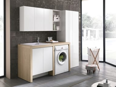 Laundry room cabinet with sink for washing machine STORE 416