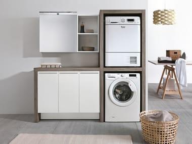 Mobile lavanderia con lavatoio per lavatrice STORE 417