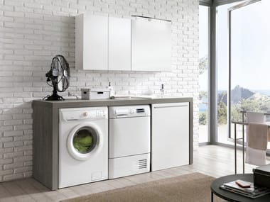 Laundry room cabinet with sink for washing machine STORE 419