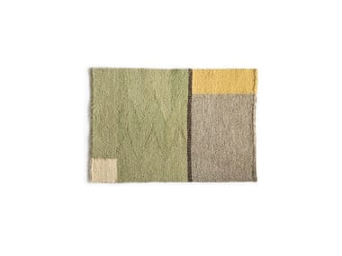 Woven Rectangular wool placemat STORIED