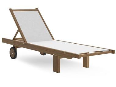 Tumbona de jardín reclinable de textilene STORM | Tumbona de jardín