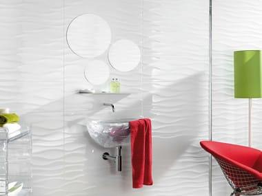 White-paste 3D Wall Tile STORM