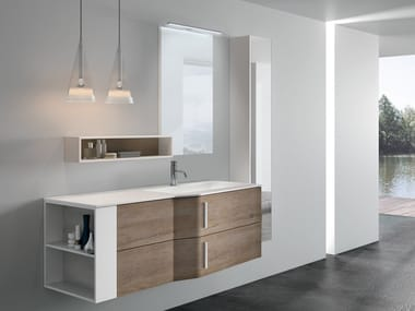 Wall-mounted vanity unit with drawers STR8 102