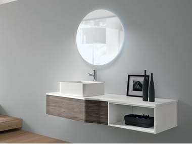 Wall-mounted vanity unit with drawers STR8 114