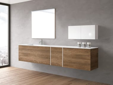 Wall-mounted vanity unit with drawers STR8 121