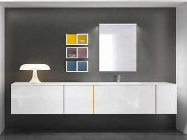 Wall-mounted vanity unit with mirror STR8 122