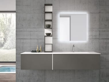 Wall-mounted vanity unit with drawers STR8 124