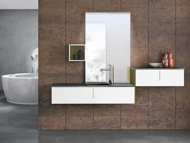 Wall-mounted vanity unit with mirror STR8 126