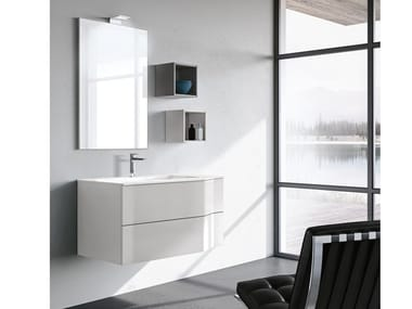 Wall-mounted vanity unit with drawers STR8 313