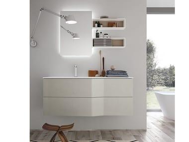 Mueble bajo lavabo suspendido con cajones STR8 321